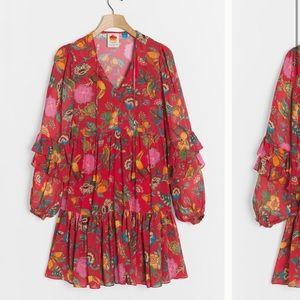 Anthropologie Farm Rio Jordyn Mini Dress Size XS.